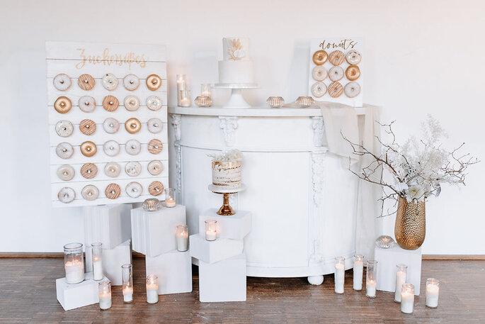 Sweet Table in weiß und Gold