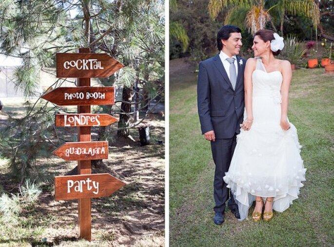 Señalizar correctamente las áreas de tu boda. Fotografía EVGENIA KOSTIAEVA