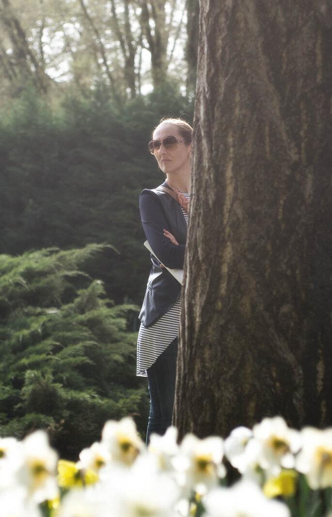 Valeria, l'organizzatrice del tour, sempre all'erta perché sia tutto impeccabile: missione compiuta, Vale!  Foto: Marilena Mura