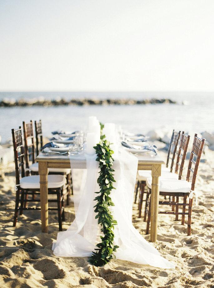 montaje para una boda en la playa - Krista A. Jones