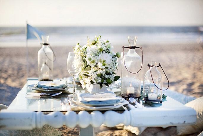 montaje para una boda ne la playa - Millie Holloman