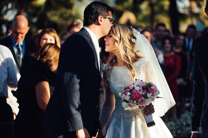 cerimônia de casamento buquê noiva