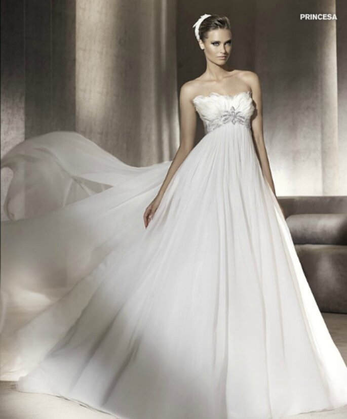 Tendenze 2010 vestiti da sposa stile impero