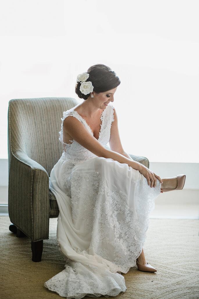 Flores naturais para o cabelo da noiva