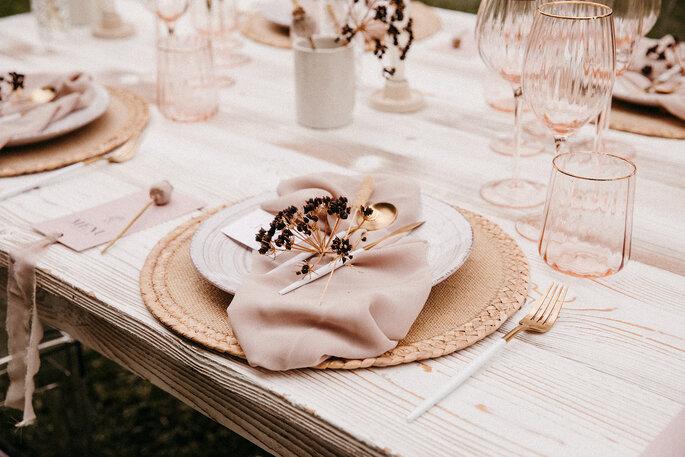 Acomodo de mesa para boda