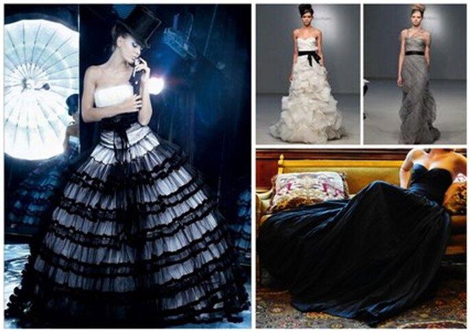 Vestidos de Noiva pretos e cinzentos
