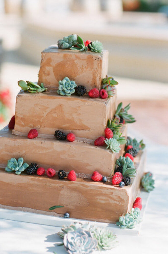 Pasteles para bodas. Foto: Picotte Weddings via Style me Pretty.