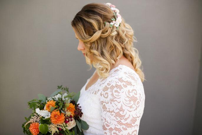 Acessório floral para cabelo