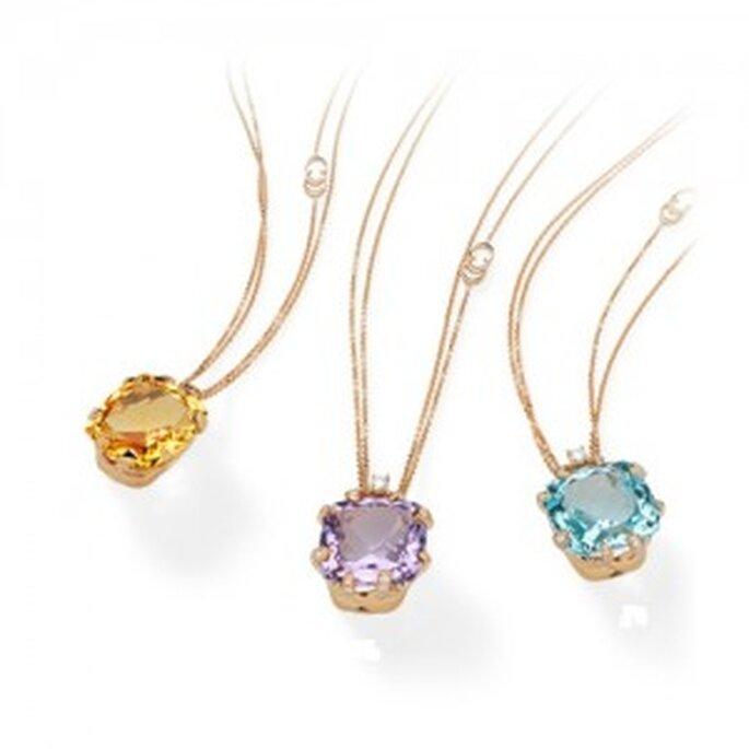 Oro rosa, ametiste, topazi e diamanti nella linea Imperial. Foto: www.chimento.it