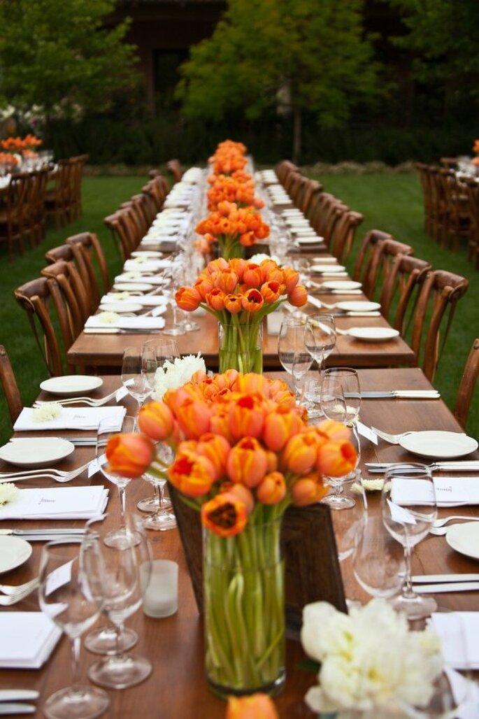 decoración con tulipanes - Catherine Hall Studios
