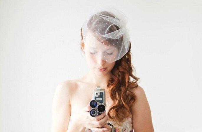 Velo de plumeti para novias - Foto SIBO Designs
