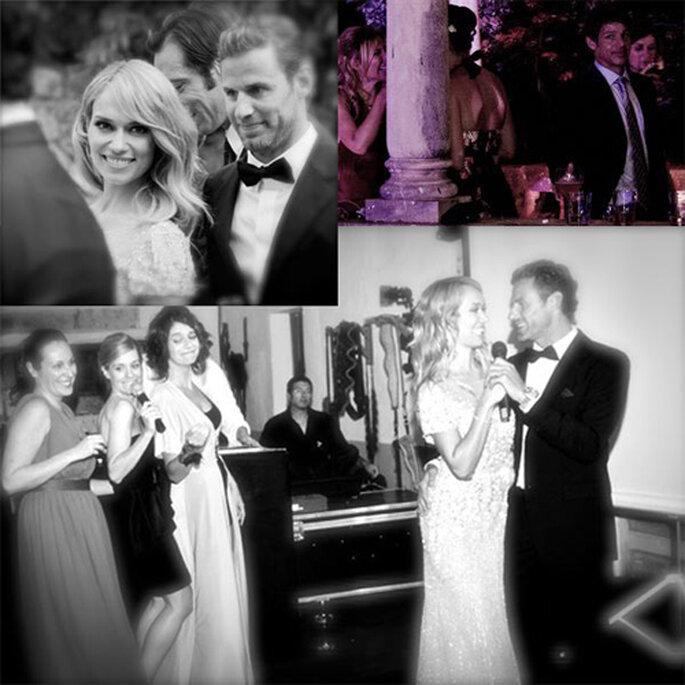 Las fotos se corresponden con un original 'lipdub' interpretado por los novios y los invitados. Foto: hola.com