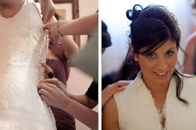 Robe de mariée et lingerie de mariage doivent être en accord - Photo : Chema Naranjo