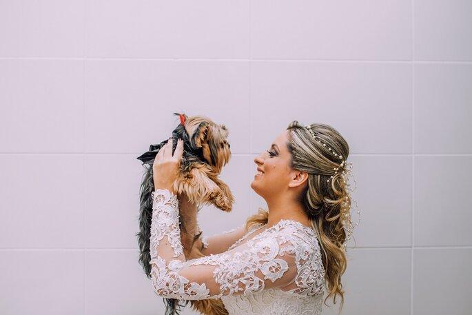 Noiva e cachorrinho