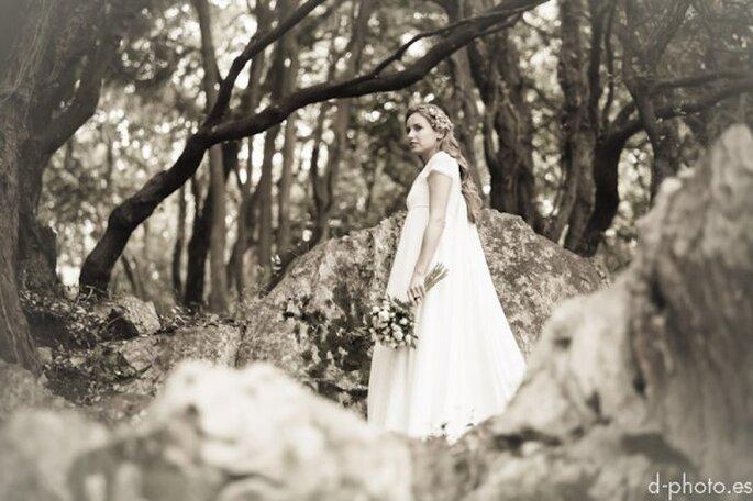 Sesión de fotos de novia inspirada en una princesa enamorada - Foto dephoto.es