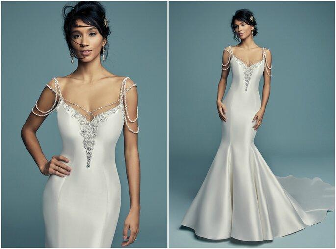 Vestidos de novia con pedrería