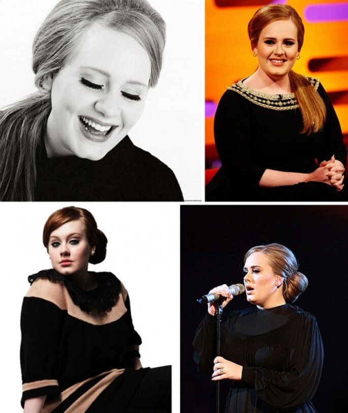 Peinados recogidos de novia estilo retro inspirados en Adele - Foto sitio oficial y Facebook de Adele