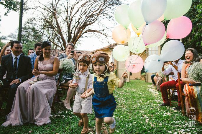 Crianças na cerimonia