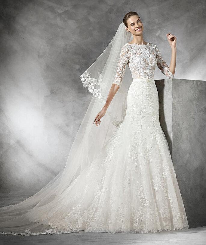 Фото и платье: Pronovias