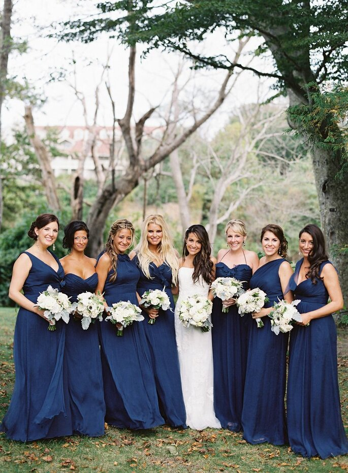 damas de honor classic blue