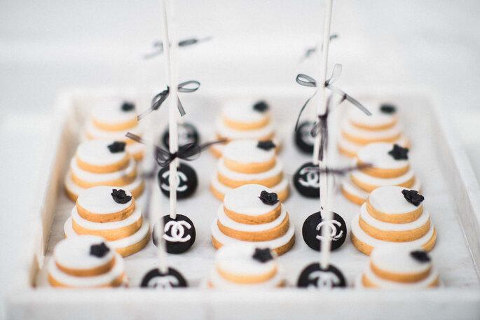 Cook & Cookies Hochzeitskekse schwarz-weiß