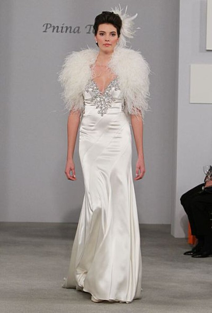 Winter wedding dress by Pnina Tornai