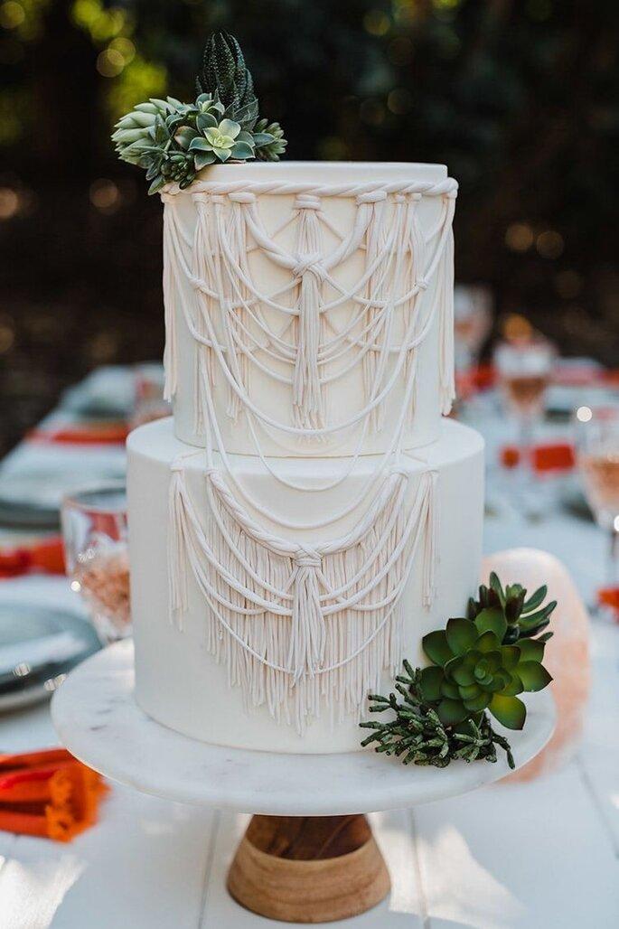 Hochzeitstorte im Macramee Style