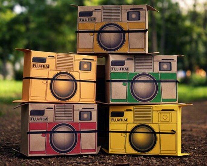 Cámara instantánea de cartón, Flutter in Pinhole de Fujifilm