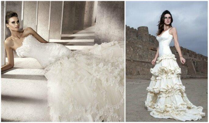 Se imponen los vestidos de novia románticos. Foto Pronovias y Vedelia Donoso