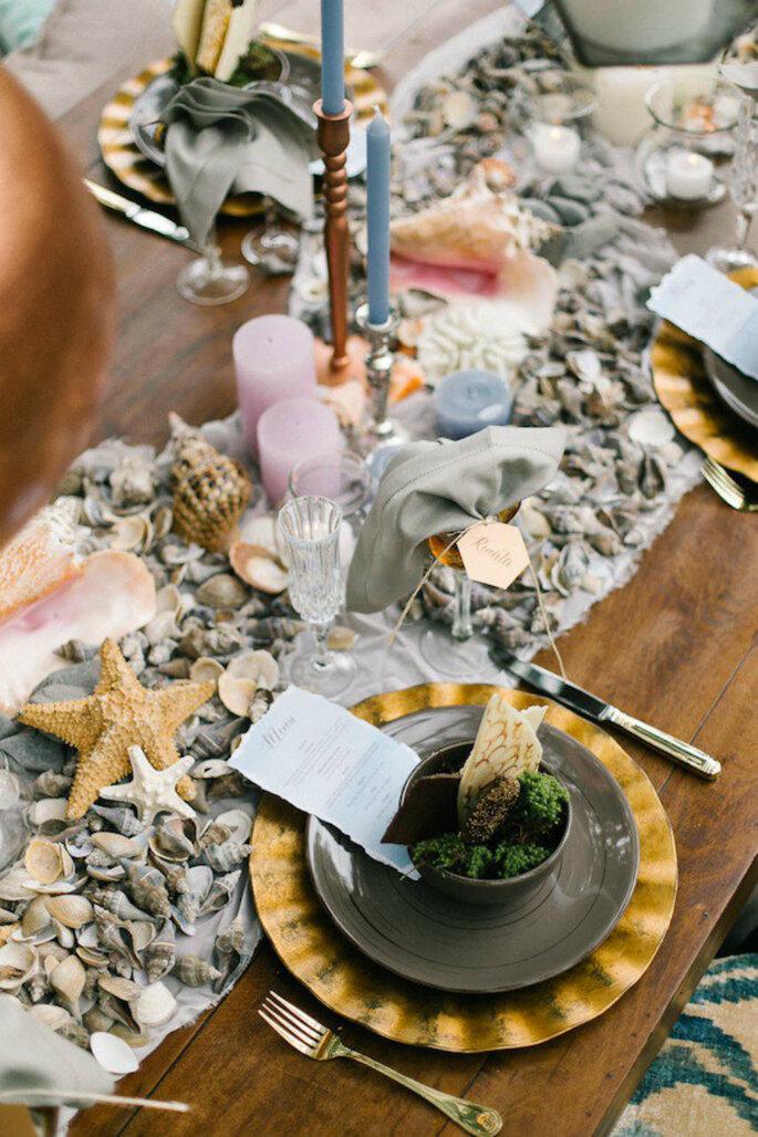 Decoração com conchas para casamento