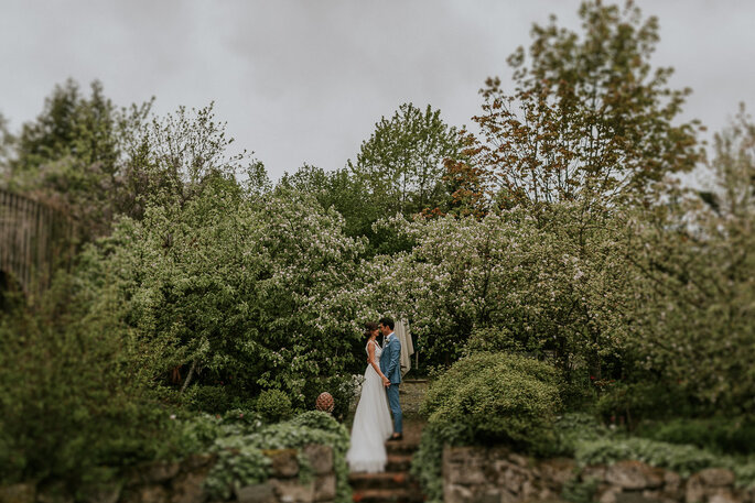 Tiny Wedding im Boho Stil Alte Gärtnerei München Paarshooting