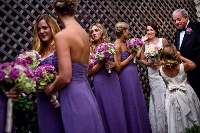 Vestidos para damas de boda en color lila de moda en 2013 - Foto Amsale Bridesmaids Facebook