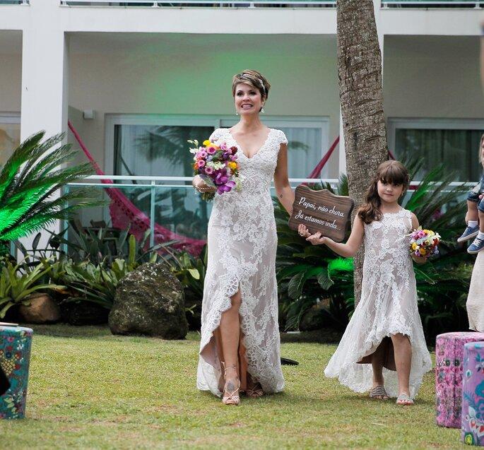 Plaquinhas para pajens e daminhas - plaquinhas para casamento