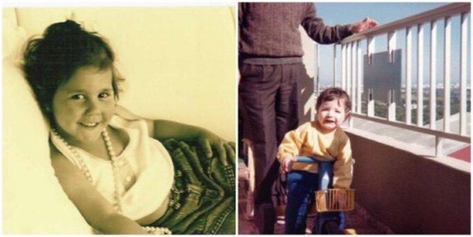 Elena y Alfonso cuando eran niños