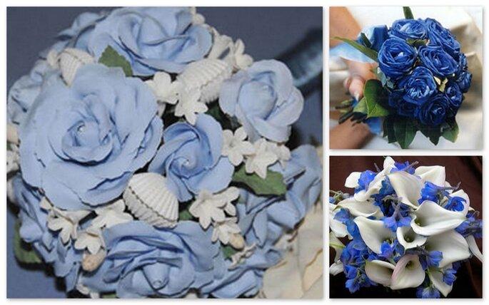 Matrimonio In Azzurro : Bouquet blu azzurro
