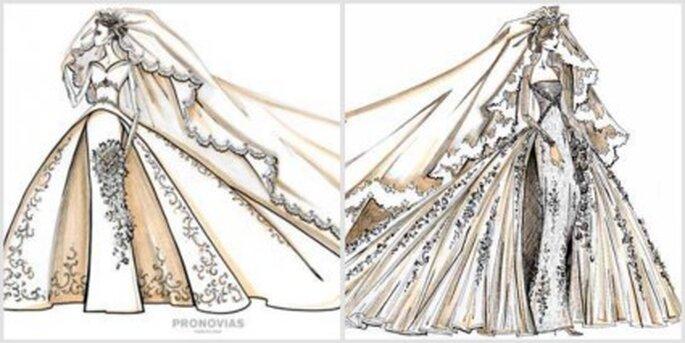 Diseños de Pronovias para Kate Middleton