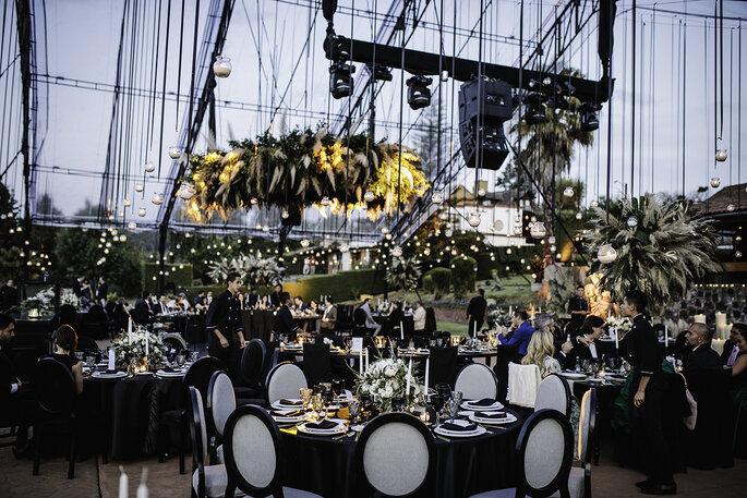 Boda en Pátzcuaro los acomodos del banquete de bodas