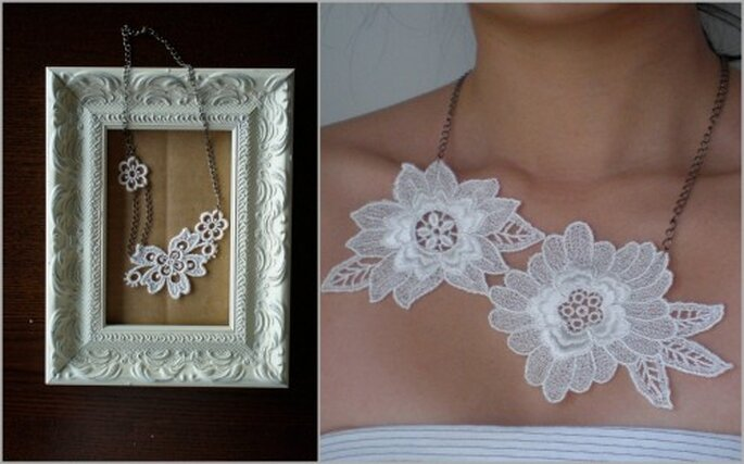 Lace necklaces from Etsy seller LiveInStyle