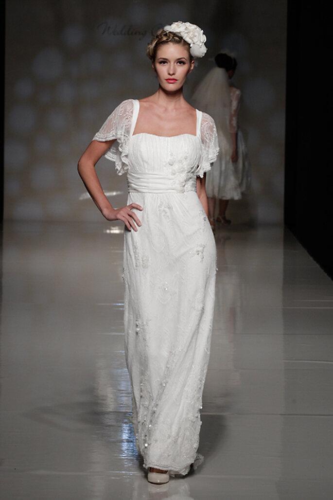 Vestido de novia con mangas cortas - Foto Anoushka G 2013