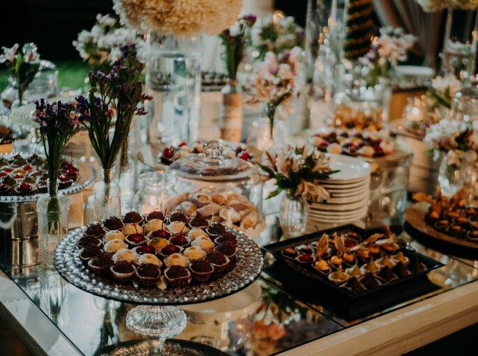 Mesa de postres del banquete