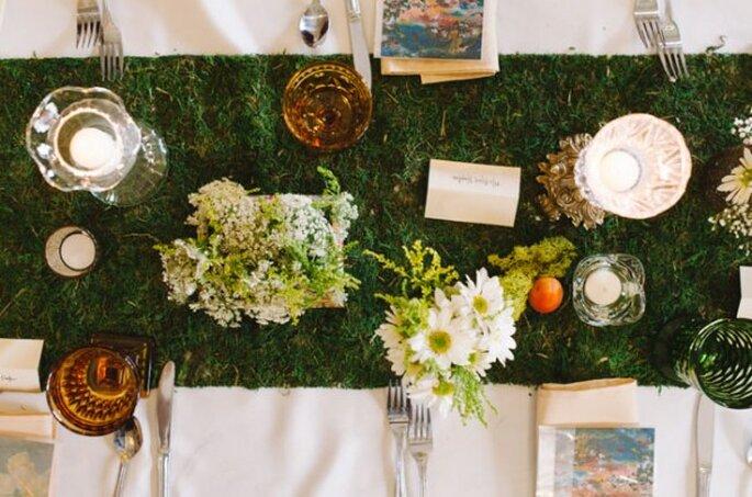 Ideas para el montaje de una boda retro - Foto T&S Hughes Photography