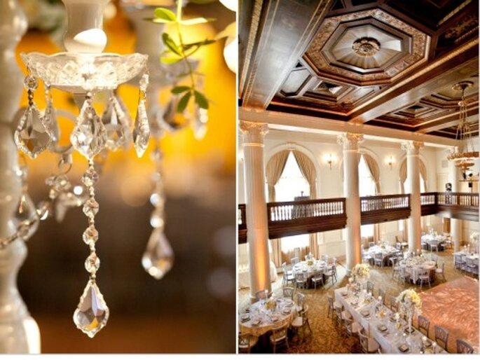 Decoración de boda color crema. Fotografía Jeny Lynne
