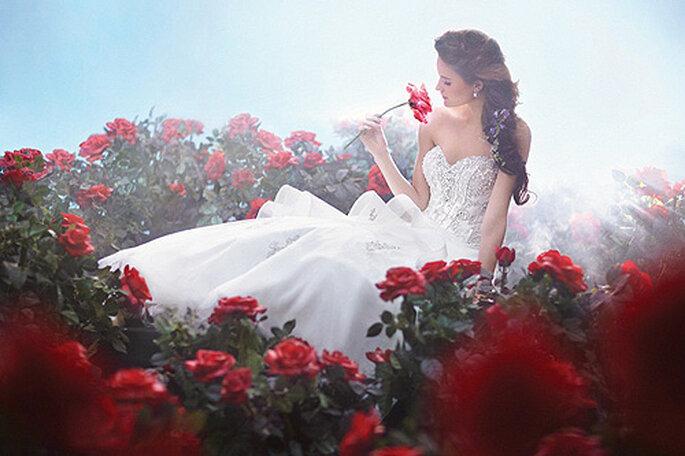 Vestido de novia 'Bella y bestia', de Alfred Angelo