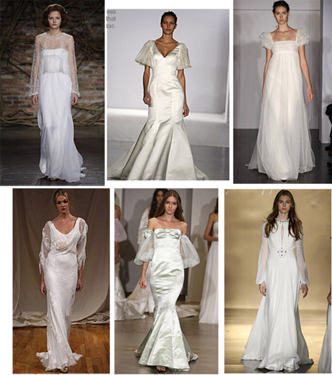 Distintos tejidos para vestidos de novia