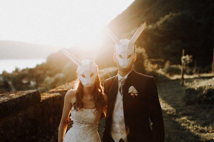 Photographe de mariage en automne