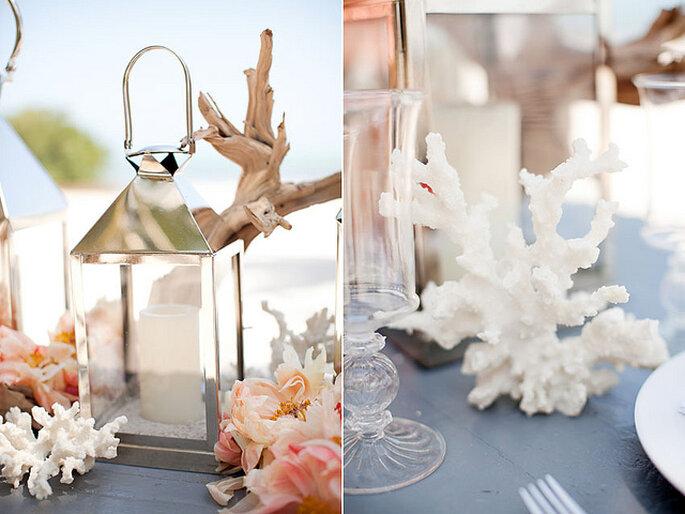 Decoración para una boda en la playa. Foto: KT Merry Photography
