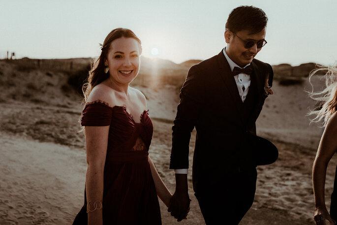 Photo couple mariage plage