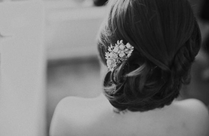 Detalle del peinado de la novia - Foto Nadia Meli