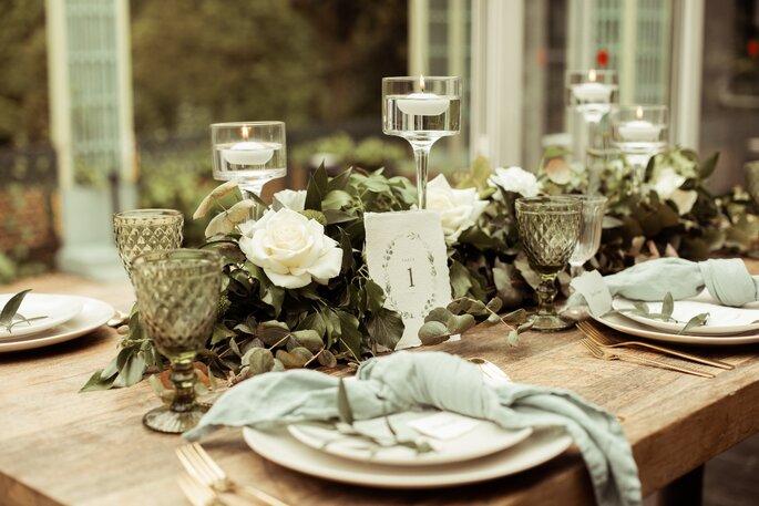 Décoration de table de mariage par un wedding planner