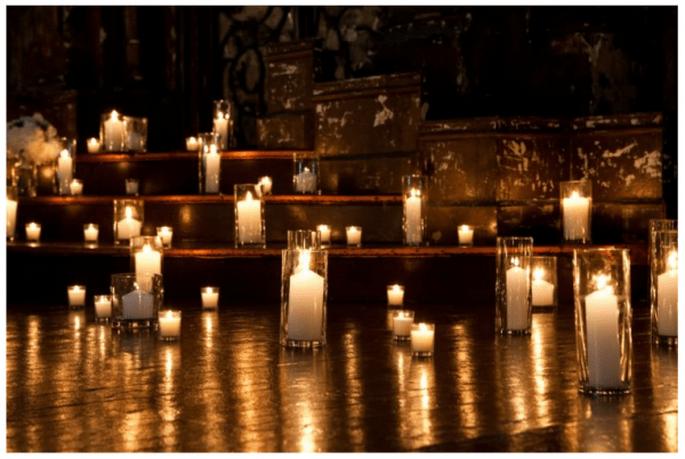 Decoración de boda con velas - Foto Dave Robbins